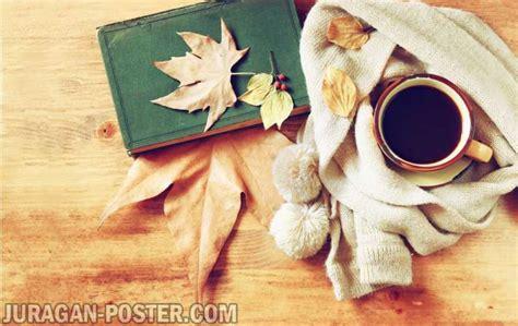latar belakang film filosofi kopi a cup of coffee on the autumn background jual poster di