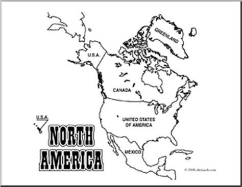 coloring page for north america north america continent clipart clipart suggest