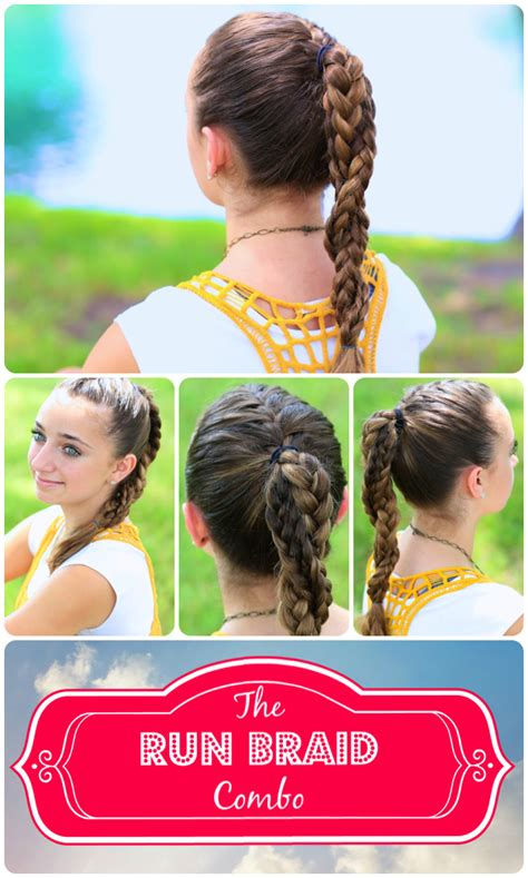 sports hairstyles the run braid combo hairstyles for sports