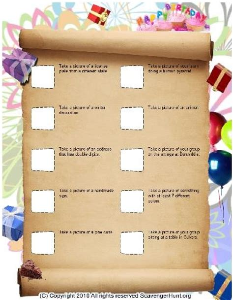 scavenger hunt template scavenger hunt templates scavenger hunts