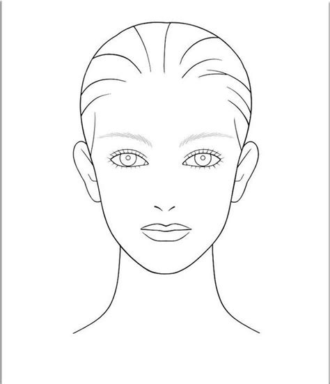 blank face template for hair and makeup foundation of your