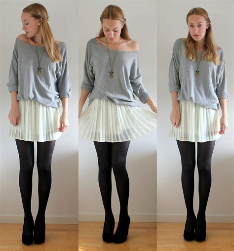 sofie norman bik bok pleated skirt h m grey sweater