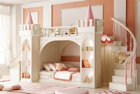 Bunk Bed With Stairs And Slide Noble Vogue Kid S Castle Bunk Bed Set W Slide Stairs Mdkbbsc N20 888518 4 966 00