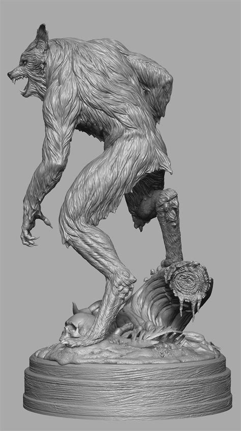 zbrush werewolf tutorial the howling werewolf 1 4 scale pcs collectibles by jesse