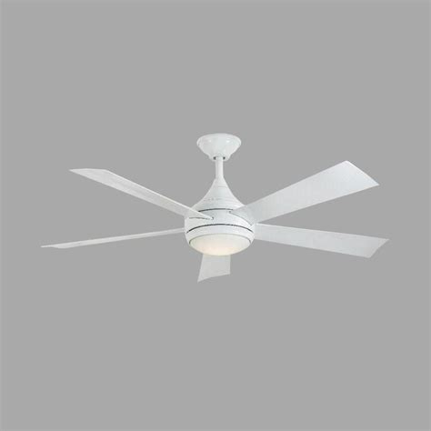 Stainless Steel Outdoor Ceiling Fans by Home Decorators Collection Hanlon 52 In Led Indoor