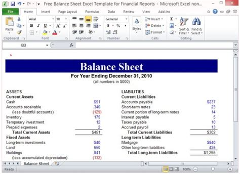 reporting a balance sheet and a statement of cash flows