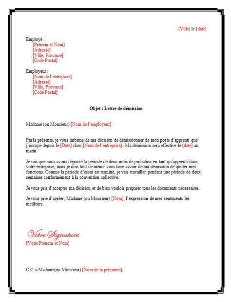lettre de d 233 mission pour apprenti lettreded 233 mission org