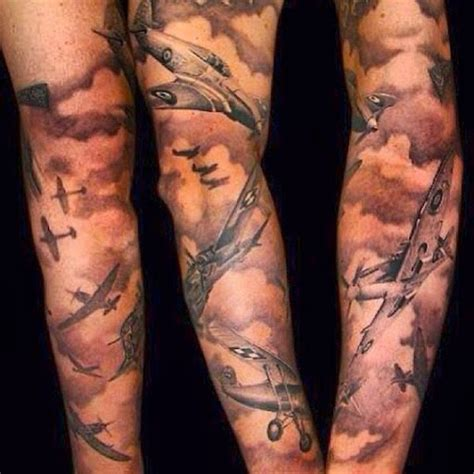 shaded sleeve tattoos designs 21 awesome cloud shading tattoos