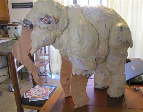 Halloween Home Made Decorations linda backer paper mache elephant2 ultimate paper mache