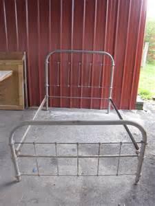 Metal Bed Frame Rails Antique Vintage Steel Metal Cast Iron Bed Frame