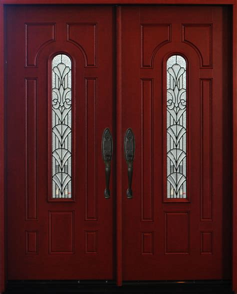 30 X 80 Exterior Door With Window Exterior Front Entry House Fiberglass Door M280a 30 Quot X 80 Quot X2 Dbl Doors