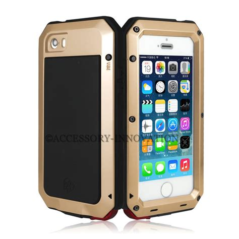 Tempered Gorila Glass Iphone 4 4s tempered aluminum gorilla glass metal for iphone 4 4s 5c 5 5s shockproof ebay
