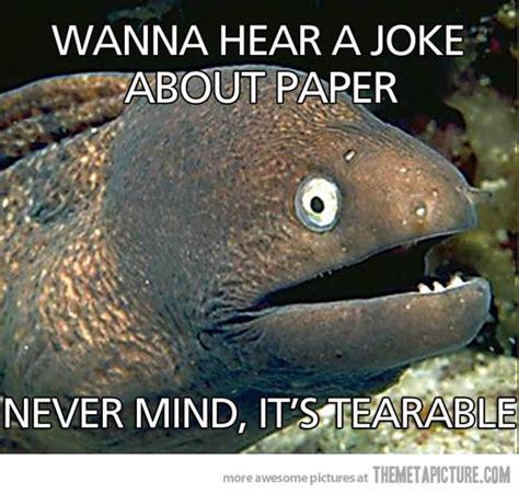 Funny Joke Memes - wanna hear a paper joke the meta picture