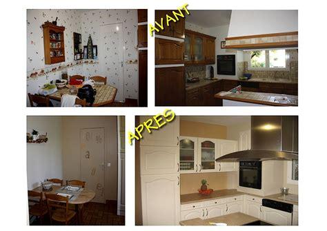 recouvrir meuble cuisine adh駸if great trendy les meubles de cuisine ont t repeints avec de