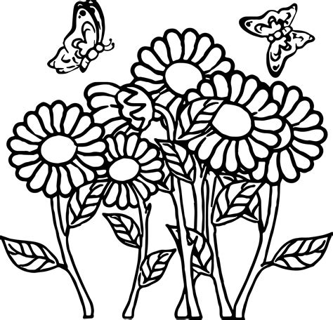 flower coloring page butterfly flower coloring page wecoloringpage