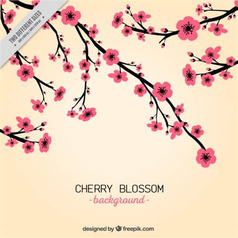 fiori di colore rosa disegnare a mano di colore rosa fiori di ciliegio sfondo