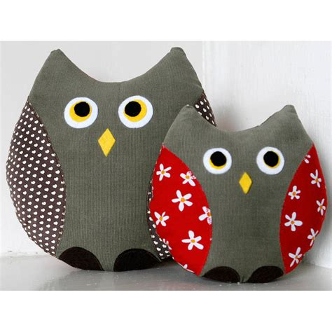 Handmade Owl Cushion - print handmade owl cushion by berry apple