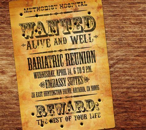 western themed bariatric reunion invitation western theme s i x e y e