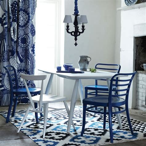 blue and white dining room modern blue and white dining room dining room decorating ideas dining room housetohome co uk