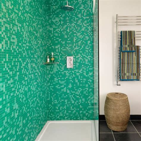 green mosaic tiles bathroom mosaic bathroom shower bathroom design idea