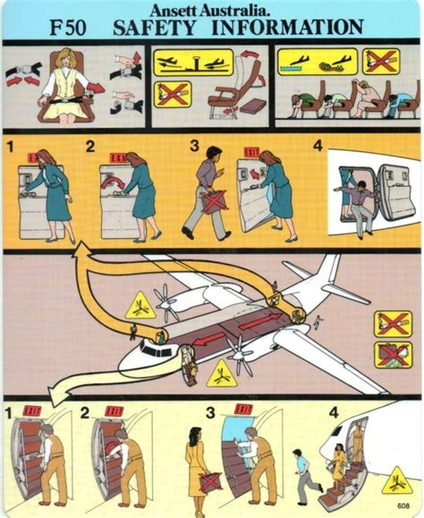aircraft safety card template 17 best images about airplane safety cards on
