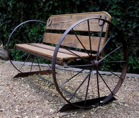wagon wheel bench seat wagon wheel garden bench patio outdoor gardening pinterest