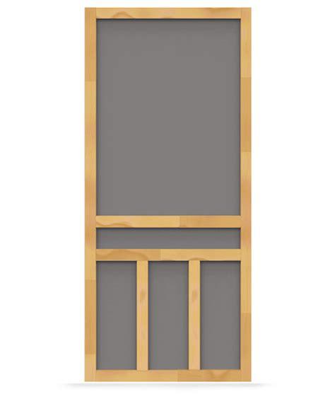 Which Is Better Vinyl Or Aluminum Screen Door - creekside wood screen door screen tight wood and solid