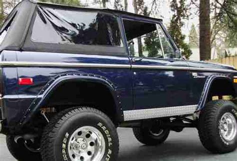 Ready Custom Ford Bronco Biru Blue Wheels Hw Hotwheels purchase used 1970 classic early ford bronco v8 restored show go ready see in medford