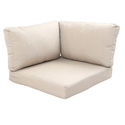 corner bench cushions hton bay beverly beige replacement 3 piece outdoor