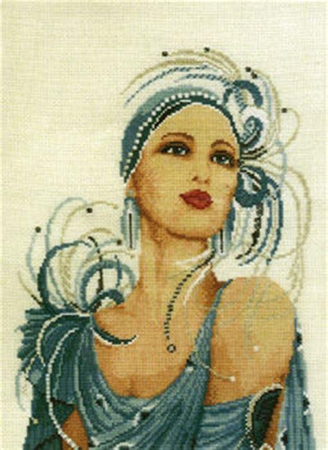 charleston lady cross stitch kit by vervaco