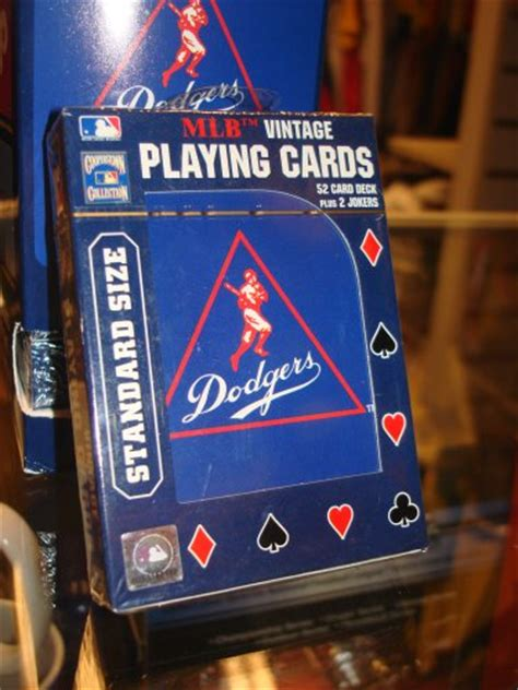 Dodgers Gift Card - dodgers mlb vintage playing cards agathdfafaxfaz