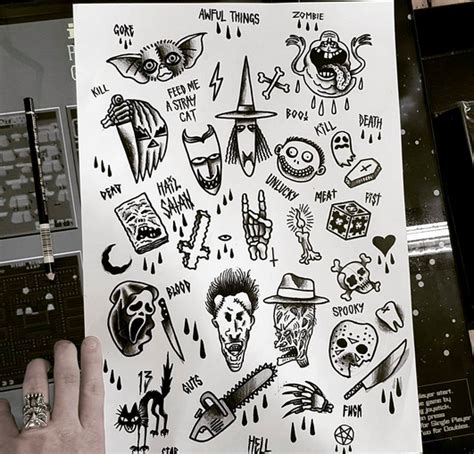 halloween flash tattoo list of synonyms and antonyms of the word
