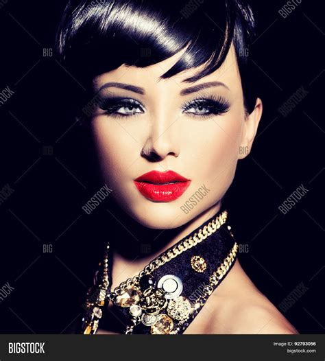 7 Accessories For Brunettes by Fashion Model Image Photo Bigstock