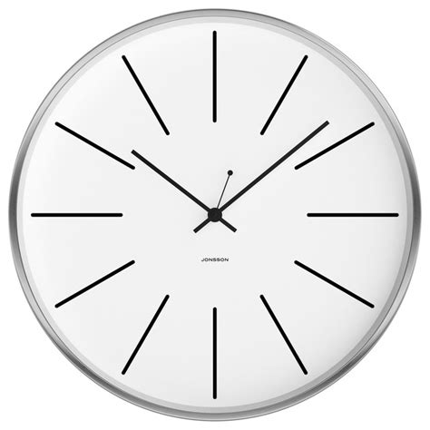 silent wall clock jonsson timeware jonsson brushed white 12 quot silent wall