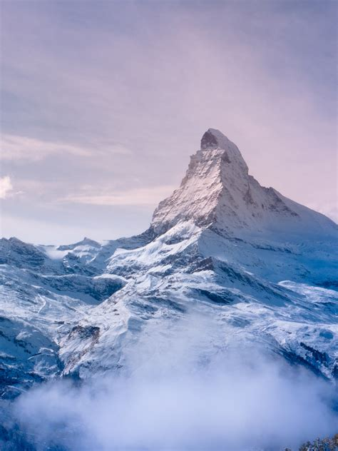 wallpaper matterhorn alps mountains peak morning