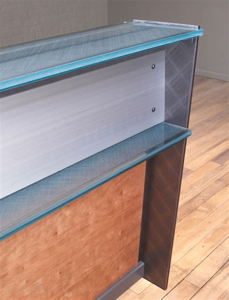 steel reception desk steel and glass reception desk custom reception desks
