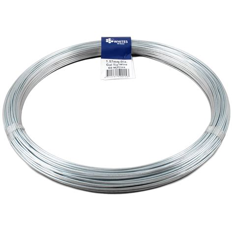 whites 1 57mm x 60m 1kg galvanised tie wire bunnings