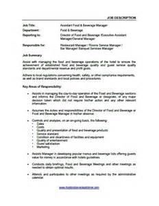 Food And Beverage Supervisor Description by Descriptions Food And Beverage Trainer