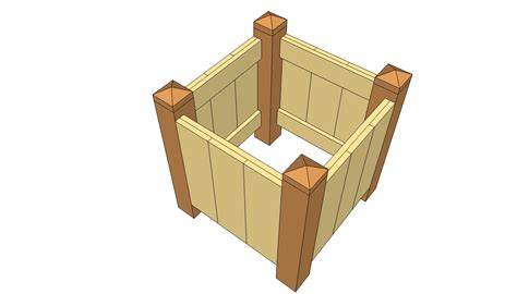 Plans For Building Wooden Planter Boxes by Woodwork Wood Planter Plans Pdf Plans