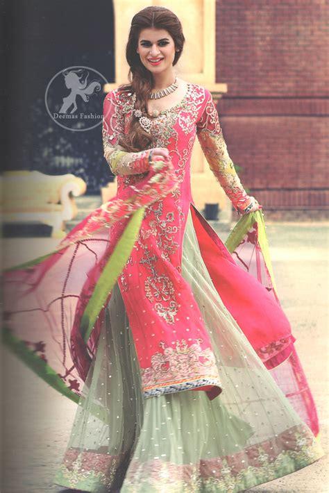 Wst 18822 Blue Flower Embroidered Shirt 1 shocking pink color bridal dress shocking pink colour