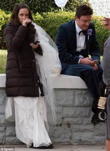 emily blunt latest movie emily blunt is a blushing bride again on set of latest