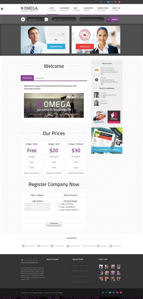 Theme Wordpress Omega   omega responsive wordpress theme for job portal candidate