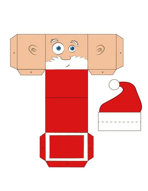 How To Make A 3d Santa Out Of Paper - 25 best ideas about gift boxes on