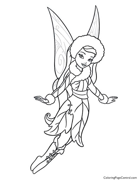Tinkerbell And Friends Coloring Pages by Tinkerbell Silvermist 01 Coloring Page Coloring Page