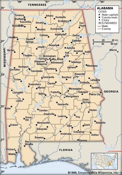 maps of alabama cities alabama cities encyclopedia children s homework