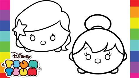 coloring tsum tsum family comp  disney pixar tsum