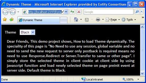 changing themes dynamically in asp net how to change page theme dynamically in asp net codeproject