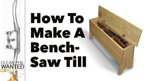 how to build a saw till bench with basic hand tools youtube