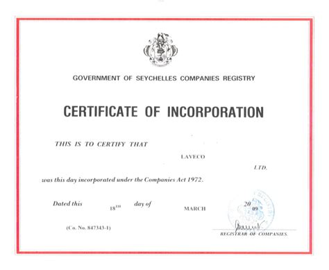 certificate of organization template laveco offshore company formation agency in