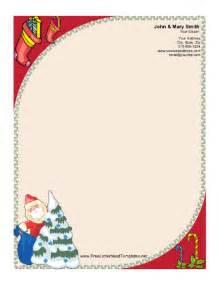 santa letterhead template santa claus and tree letterhead